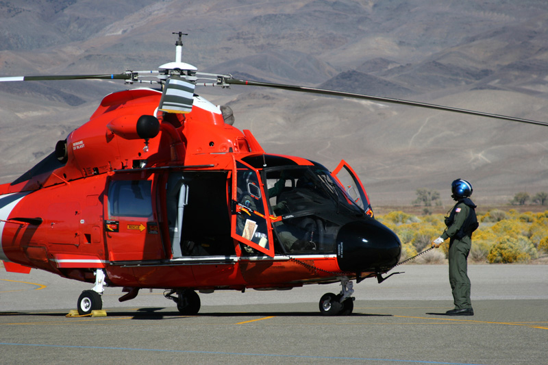 Picrure of border guard helicopter.